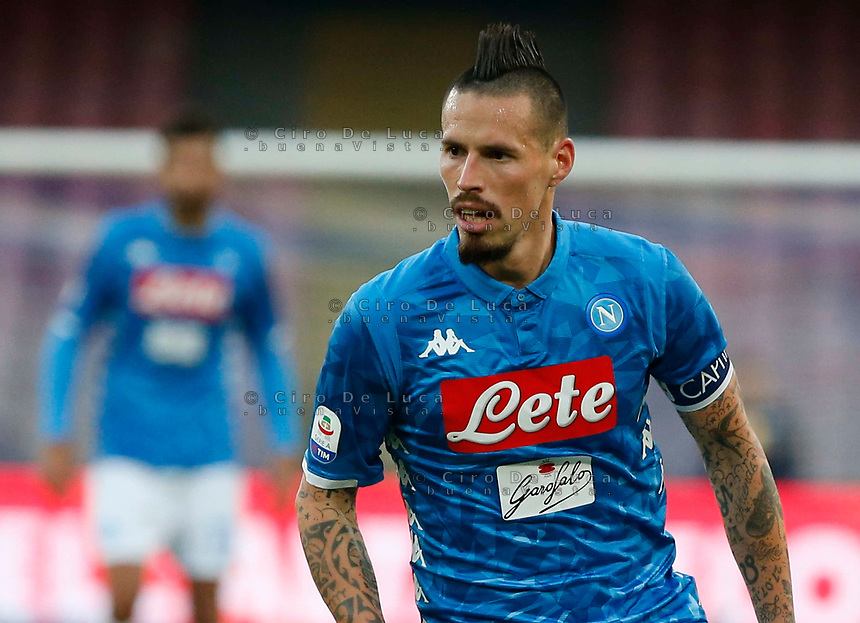 Marek Hamsik of Napoli  during the  italian serie a soccer match,  SSC Napoli - Frosinone       at  the San  Paolo   stadium in Naples  Italy , December 08, 2018