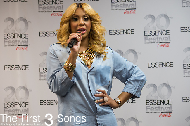 Tamar Braxton at the 2014 Essence Festival at the Mercedes-Benz Superdome in New Orleans, Louisiana.