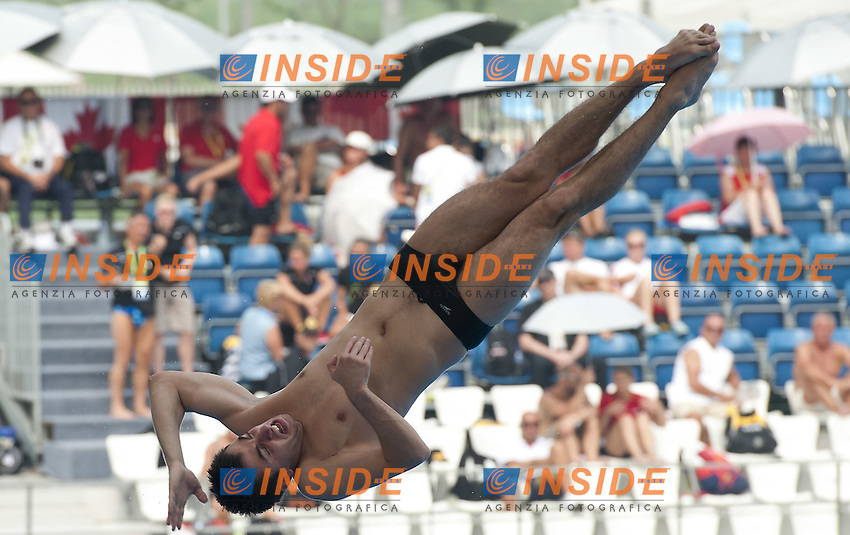 Shanghai ,  (CHN) 16-31 July 2001.XIV FINA Swimming World Championships.day 06.Men 3m Springboard.Preliminary Round..CHANTURIA  Chola GEO..Photo Insidefoto / Giorgio Scala