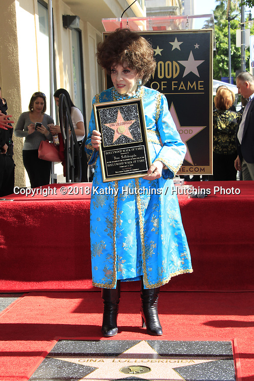 LOS ANGELES - FEB 1:  GIna Lollobrigida at the Gina Lollobrigida Star Ceremony on the Hollywood Walk of Fame on February 1, 2018 in Los Angeles, CA