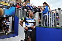 Semesa Rokoduguni and the rest of the Bath Rugby team make their way onto the pitch. Aviva Premiership match, between Bath Rugby and Northampton Saints on December 5, 2015 at the Recreation Ground in Bath, England. Photo by: Patrick Khachfe / Onside Images