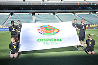 Philadelphia, PA - Tuesday June 14, 2016: CONMEBOL flag prior to a Copa America Centenario Group D match between Chile (CHI) and Panama (PAN) at Lincoln Financial Field.