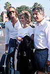 JANE FONDA AND HER BROTHER PETER FONDA<br /> WITH HUSBAND TOM HAYDEN  <br /> SEPTEMBER 1986<br /> PROMOTING THE CLEAN WATER ACT IN<br /> LOS ANGELES, CALIFORNIA