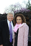 Donald Trump & Tamara Tunie at the 2012 Skating with the Stars - a benefit gala for Figure Skating in Harlem celebrating 15 years on April 2, 2012 at Central Park's Wollman Rink, New York City, New York.  (Photo by Sue Coflin/Max Photos)