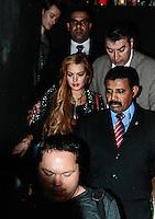 SAO PAULO, SP, 28 MARÇO 2013 - Lindsay Lohan em inauguracao da loja John John na Rua Oscar Freire em Sao Paulo. FOTO: AMAURI NEHN / BRAZIL PHOTO PRESS).