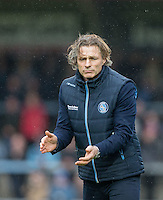Wycombe Wanderers Manager Gareth Ainsworth during the Sky Bet League 2 match between Wycombe Wanderers and Crawley Town at Adams Park, High Wycombe, England on 25 February 2017. Photo by Andy Rowland / PRiME Media Images.