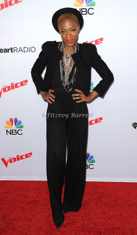 Kimberly Nichole arriving NBC's The Voice Season 8 Red Carpet Event held at the Pacific Design Center Los Angeles CA. April 23, 2015
