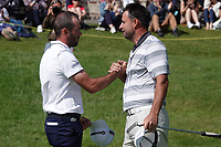 Robin Roussel (FRA) & Richard Bland (ENG) in action during the final round of the Hauts de France-Pas de Calais Golf Open, Aa Saint-Omer GC, Saint- Omer, France. 16/06/2019<br /> Picture: Golffile | Phil Inglis<br /> <br /> <br /> All photo usage must carry mandatory copyright credit (© Golffile | Phil Inglis)