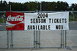 9 August 2003: Fans leaving the game are  fatefully encouraged to order season tickets for the now canceled 2004 season. The Carolina Courage tied the Philadelphia Charge 1-1 at SAS Stadium in Cary, NC in the final regular season WUSA game.