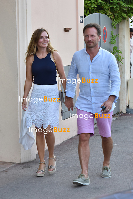 EXCLUSIVE - Geri Halliwell ( ex Spice Girls )  and her husband Christian Horner enjoy their vacation in <br /> Saint-Tropez