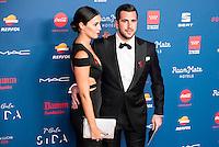 Enrique Riquelme and his wife attends to the photocall of the Gala Sida at Palacio de Cibeles in Madrid. November 21, 2016. (ALTERPHOTOS/Borja B.Hojas) //NORTEPHOTO.COM