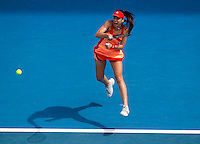 SORANA CIRSTEA (ROU) against SAMANTHA STOSUR (AUS) in the first round of the women's Singles. Sorana Cirstea beat Samantha Stosur  7-6 6-3 ..17/01/2012, 17th January 2012, 17.01.2012..The Australian Open, Melbourne Park, Melbourne,Victoria, Australia.@AMN IMAGES, Frey, Advantage Media Network, 30, Cleveland Street, London, W1T 4JD .Tel - +44 208 947 0100..email - mfrey@advantagemedianet.com..www.amnimages.photoshelter.com.