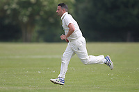 Flack of Bentley during Bentley CC (Bowling) vs Rainham CC, T Rippon Mid Essex Cricket League Cricket at Coxtie Green Road on 9th June 2018