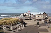Nederland - Camperduin - 2019 .  Duinen bij het strand van Camperduin. Strandtent Luctor et Emergo.     Foto Berlinda van Dam / Hollandse Hoogte