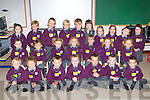 Gaelscoil Faithlean, Killarney pupils who started their long journey of school life on Thursday front row l-r: Naoch O? Buachalla Seasna?in, Cathal O? Maca, TJ O? hE?ili?, William MacSearraigh, Foichra O? Rabhartaigh, Rory Mac Fhlannchaidh, Jack O? Ce?illeachair. Middle row: Orianne Nic Giolla Chuda, Leah Ni? Ghra?daigh, Caoilfhionn Ni? Dhubhghaill, Amy Ni? Mhaoilmhichil, Grainne Ni? Bhroin, Elle Ni? Nuadha?in, Ro?isi?n Ni? Shu?illeabha?in. Back row: Amy Ni? Chonchu?ir, Cian Mac Giollaorna?th, Josh O? Buaidhle?ir, Lucas and Conor Sowerby, Emily Ni? Bhrosnacha?in, Aoibheann Ni? Dhubha?in, Saoirse Ni? Chlu?mha?in, Saoirse Ni? Shu?illeabha?in, and Andrea Ni? Mhurchu?.