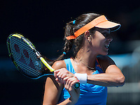 ANA IVANOVIC (SRB)<br /> <br /> Tennis - Australian Open - Grand Slam -  Melbourne Park -  2014 -  Melbourne - Australia  - 13th January 2014. <br /> <br /> &copy; AMN IMAGES, 1A.12B Victoria Road, Bellevue Hill, NSW 2023, Australia<br /> Tel - +61 433 754 488<br /> <br /> mike@tennisphotonet.com<br /> www.amnimages.com<br /> <br /> International Tennis Photo Agency - AMN Images
