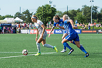 Boston, MA - Saturday June 24, 2017: Jaelene Hinkle, Julie King and Adriana Leon during a regular season National Women's Soccer League (NWSL) match between the Boston Breakers and the North Carolina Courage at Jordan Field.