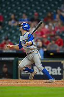 Luke Heyer (26) of the Kentucky Wildcats connects for his second home run of the game against the Houston Cougars in game two of the 2018 Shriners Hospitals for Children College Classic at Minute Maid Park on March 2, 2018 in Houston, Texas.  The Wildcats defeated the Cougars 14-2 in 7 innings.   (Brian Westerholt/Four Seam Images)