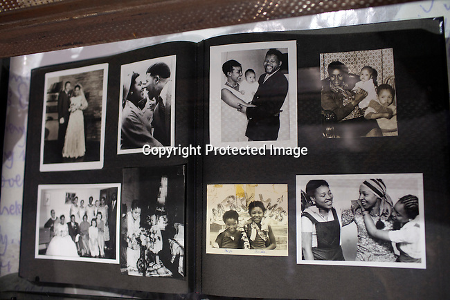 SOWETO, SOUTH AFRICA : Nelson Mandela memorabilia displayed in the Apartheid museum outside Johannesburg, South Africa. (Photo by Per-Anders Pettersson)