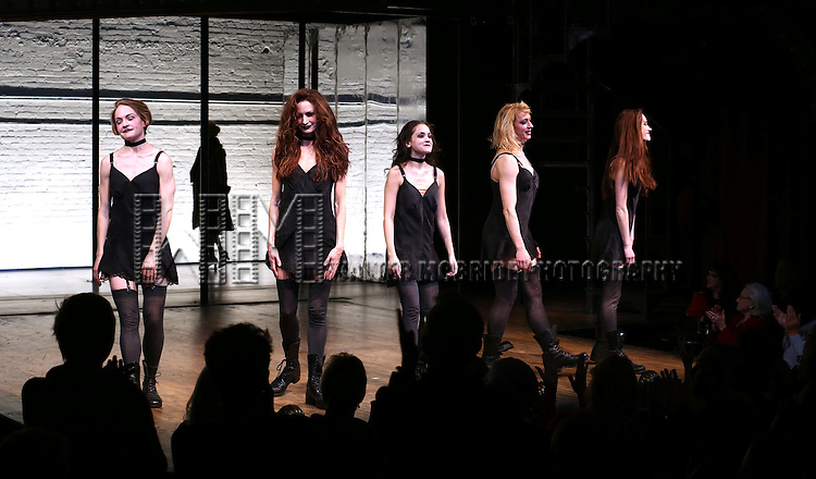 Ensemble cast during the Broadway Opening Night Performance Curtain Call for 'Cabaret' at Studio 54 on April 24, 2014 in New York City.