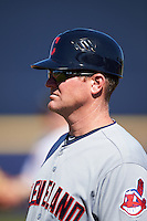 Mesa Solar Sox coach Larry Day (27), of the Cleveland Indians organization, during a game against the Peoria Javelinas on October 19, 2016 at Peoria Stadium in Peoria, Arizona.  Peoria defeated Mesa 2-1.  (Mike Janes/Four Seam Images)