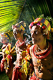 INDONESIA, Mentawai Islands, Kandui Resort, three tribal elders in traditional clothing