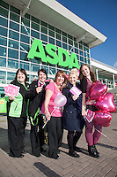 ASDA's Forest Town superstore ran a fun event in aid of its 'Tickled Pink' campaign. Pictured from left are Ann Wood, Liz Horobin, Community Colleague Sue Derbyshire, Stacey Derbyshire and Charlie Horobin