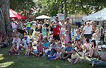 Crowds watch a juggling act at the NV150 Fair at Fuji Park, in Carson City, Nev., on Saturday, Aug. 2, 2014.<br /> Photo by Cathleen Allison