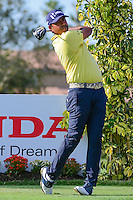 Anirban Lahiri (IND) watches his tee shot on 12 during round 3 of the Honda Classic, PGA National, Palm Beach Gardens, West Palm Beach, Florida, USA. 2/25/2017.<br /> Picture: Golffile | Ken Murray<br /> <br /> <br /> All photo usage must carry mandatory copyright credit (&copy; Golffile | Ken Murray)