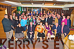 Jeremiah O'Donoghue, Woodlawn Park, Killarney, pictured with his wife Mary, family and friends as he celebrated his retirement from the HSE after 35 years service, in the Killarney Plaza hotel on Thursday night.