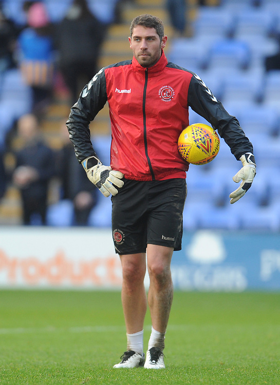 Fleetwood Town's Paul Jones during the pre-match warm-up <br /> <br /> Photographer Kevin Barnes/CameraSport<br /> <br /> The EFL Sky Bet League One - Shrewsbury Town v Fleetwood Town - Tuesday 1st January 2019 - New Meadow - Shrewsbury<br /> <br /> World Copyright © 2019 CameraSport. All rights reserved. 43 Linden Ave. Countesthorpe. Leicester. England. LE8 5PG - Tel: +44 (0) 116 277 4147 - admin@camerasport.com - www.camerasport.com