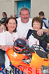 Martina OConnor, Betty Gaire and Con Dowling (all Duagh) enjoying the craic at the start of the Duagh Bikers Poker Run in Currow last Saturday..