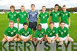 Ireland in Action against Estonia U-16 International friendly at Pat Kennedy PArk Listowel on Tuesday