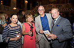 WATERBURY, CT-053118JS07--  Natalie Lawlor, Development Officer at the Palace Theater, Board of Advisor member Carolyn  Cicchetti, Chief Executive Officer Frank Tavera, and Don McPartland at STAGES, the Palace Theater's 12th Annual Wine Dinner held at the Palace Theater in Waterbury. The event  benefits the Palace Theater Annual Campaign.  <br /> Jim Shannon Republican American