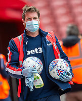 27th June 2020; Bet365 Stadium, Stoke, Staffordshire, England; English Championship Football, Stoke City versus Middlesbrough; Balls are cleaned pre match