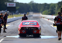 May 13, 2016; Commerce, GA, USA; NHRA pro stock driver Drew Skillman during qualifying for the Southern Nationals at Atlanta Dragway. Mandatory Credit: Mark J. Rebilas-USA TODAY Sports