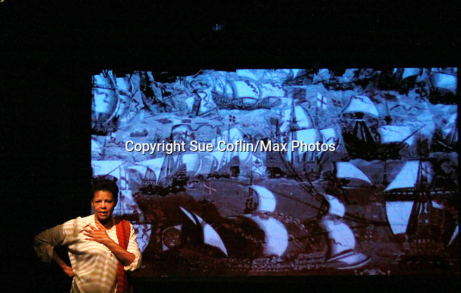 """Guiding Light Petronia Paley """"Vivian Grant"""" and Another World """"Quinn"""" stars in the one-woman play On the Way To Timbuktu"""" which she wrote  at the Shell Theater, NYC, NY. Is excellent. (Photo by Sue Coflin/Max Photos)"""