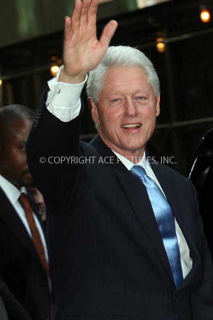 WWW.ACEPIXS.COM . . . . .  ....August 6 2009, New York City....Former president Bill Clinton was seen leaving the Scolastic store in Soho on August 6 2009 in New York City....Please byline: NANCY RIVERA- ACE PICTURES.... *** ***..Ace Pictures, Inc:  ..tel: (212) 243 8787 or (646) 769 0430..e-mail: info@acepixs.com..web: http://www.acepixs.com