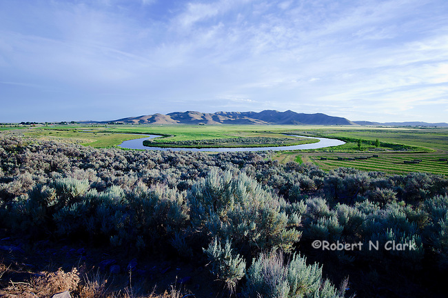The oxbows on Silver Creek near Picabo, Idaho
