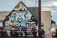 Route 66 mural in Tulsa Oklahoma.