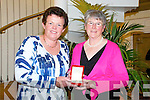 Winner : Mary Sheehy, Tralee who won the Lady presidents prize at Ballybunion Golf Cllub on Saturday being presented with her winning prize by newly elected lady President, Eileen Kearns , Tralee.