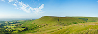 View from Twmpa towards Hay Bluff, Black mountains, Brecon Beacons national park, Wales