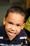 Education Preschool 3-4 year olds closeup of boy talking vertical