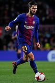 11th January 2018, Camp Nou, Barcelona, Spain; Copa del Rey football, round of 16, 2nd leg, Barcelona versus Celta Vigo; Andre Gomes of FC Barcelona controls the ball through midfield
