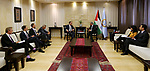 Palestinian Prime Minister Mohammad Ishtayeh meets with German Minister of State for Foreign Affairs Niels Annen, at his headquarter, in the West Bank city of Ramallah, June 16, 2019. Photo by Prime Minister Office