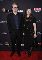 06 January 2018 - Beverly Hills, California - Gary Oldman, Gisele Schmidt. 2018 BAFTA Tea Party held at The Four Seasons Los Angeles at Beverly Hills in Beverly Hills.    <br /> CAP/ADM/BT<br /> &copy;BT/ADM/Capital Pictures