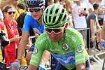 Green Jersey Nairo Quintana (COL) Movistar Team crosses the finish line at the end of Stage 3 of La Vuelta 2019 running 188km from Ibi. Ciudad del Juguete to Alicante, Spain. 26th August 2019.<br /> Picture: Eoin Clarke | Cyclefile<br /> <br /> All photos usage must carry mandatory copyright credit (© Cyclefile | Eoin Clarke)