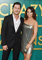 HOLLYWOOD, CA - AUGUST 07: Dancers Val Chmerkovskiy (L) and Jenna Johnson arrive at the Warner Bros. Pictures' 'Crazy Rich Asians' premiere at the TCL Chinese Theatre IMAX on August 7, 2018 in Hollywood, California.<br /> CAP/ROT/TM<br /> &copy;TM/ROT/Capital Pictures