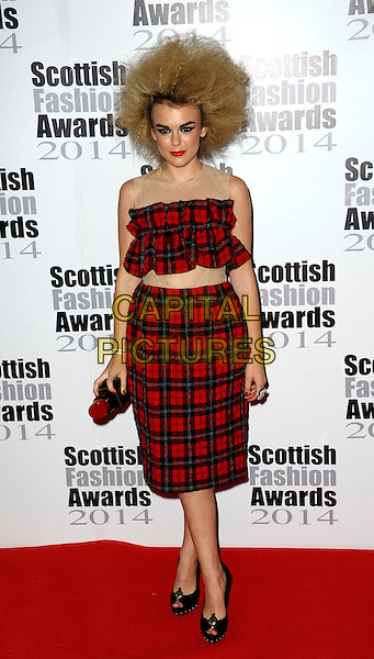 Tallia Storm attends The Scottish Fashion Awards held at 8  Northumberland Avenue, on September 1, 2014 in London, England. <br /> CAP/CJ<br /> &copy;Chris Joseph/Capital Pictures