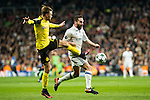 Borussia Dortmund Marcel Shmeizer, Real Madrid's Daniel Carvajal  during Champions League match between Real Madrid and Borussia Dortmund  at Santiago Bernabeu Stadium in Madrid , Spain. December 07, 2016. (ALTERPHOTOS/Rodrigo Jimenez)